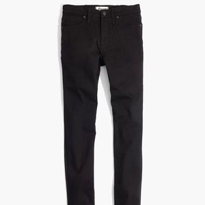 Madwell 9 inch high rise skinny jeans black